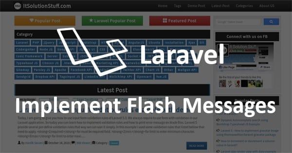 laravel闪存flash