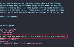 mac设置端口转发